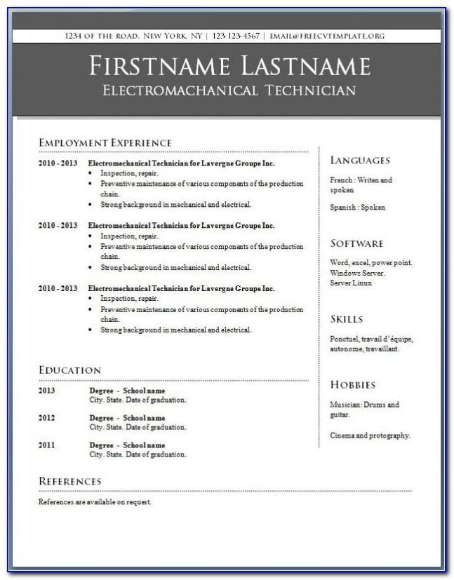 Teacher Resume Format Word File Download