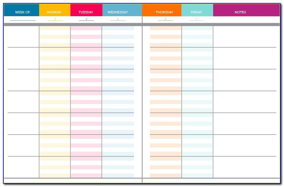 Teacher Weekly Planner Template Printable