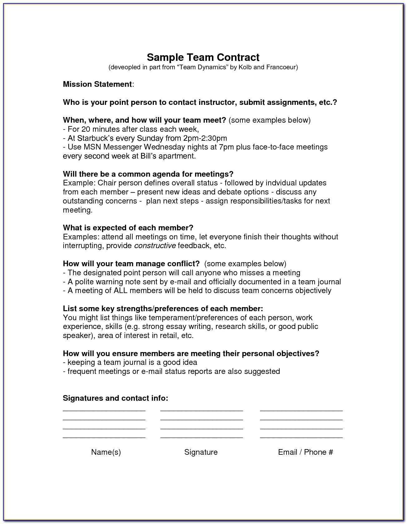 Teaming Agreement Template South Africa