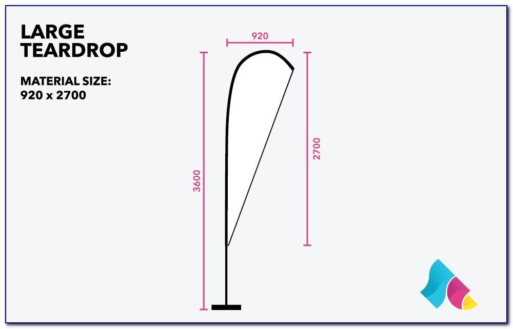 Teardrop Banner Vector Template