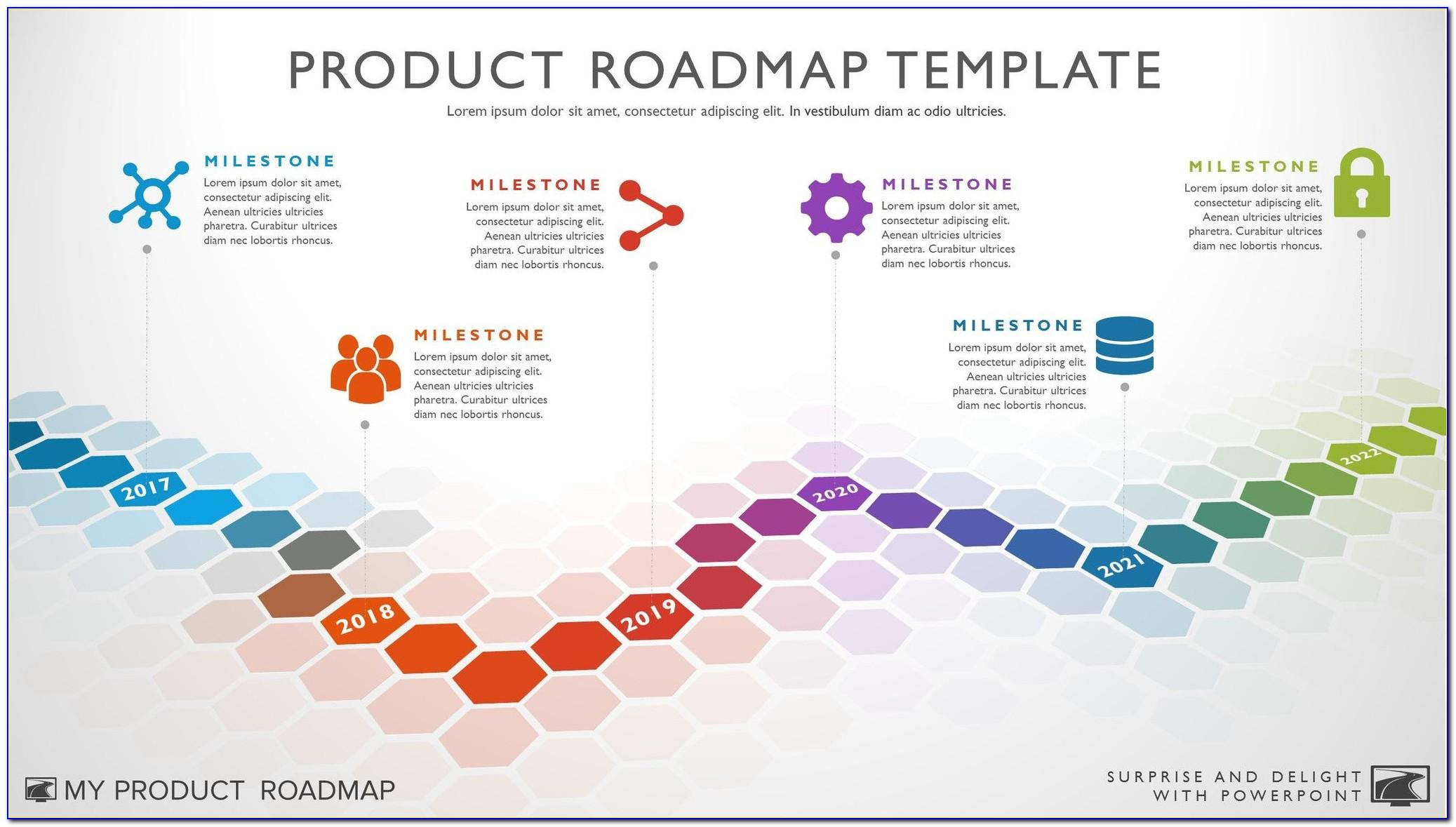 Technology Roadmap Ppt Template