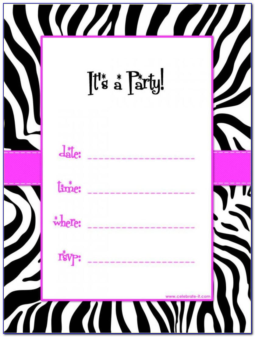 Teenage Birthday Party Invitation Templates