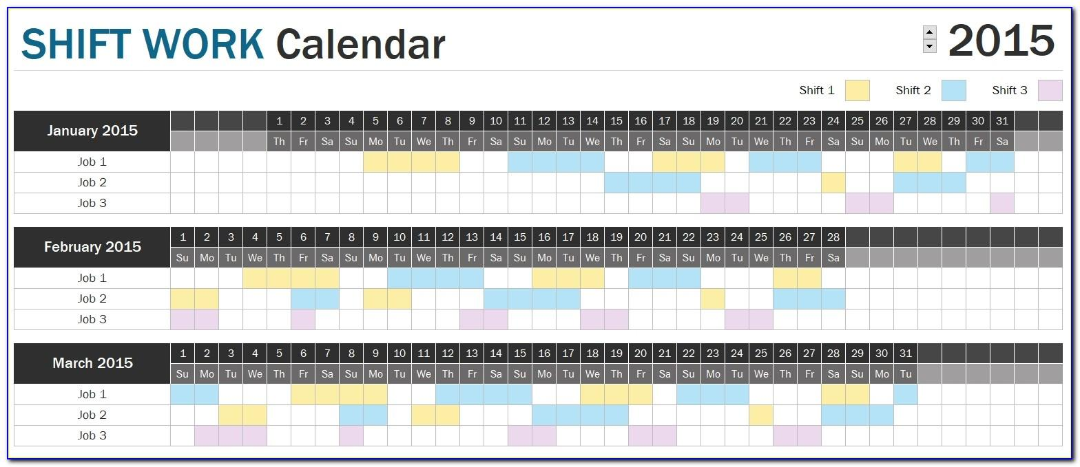 Work Schedule Sample Excel