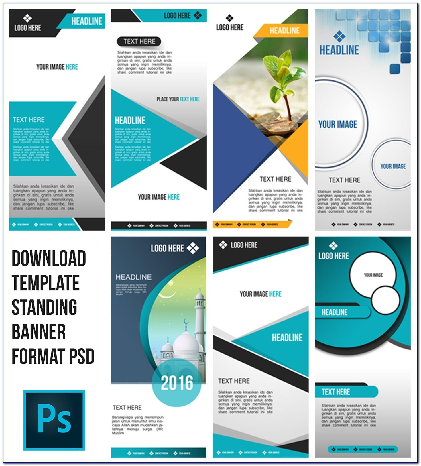 X Stand Banner Template Free Download