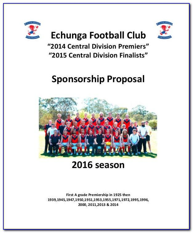Youth Sports Sponsorship Proposal Template