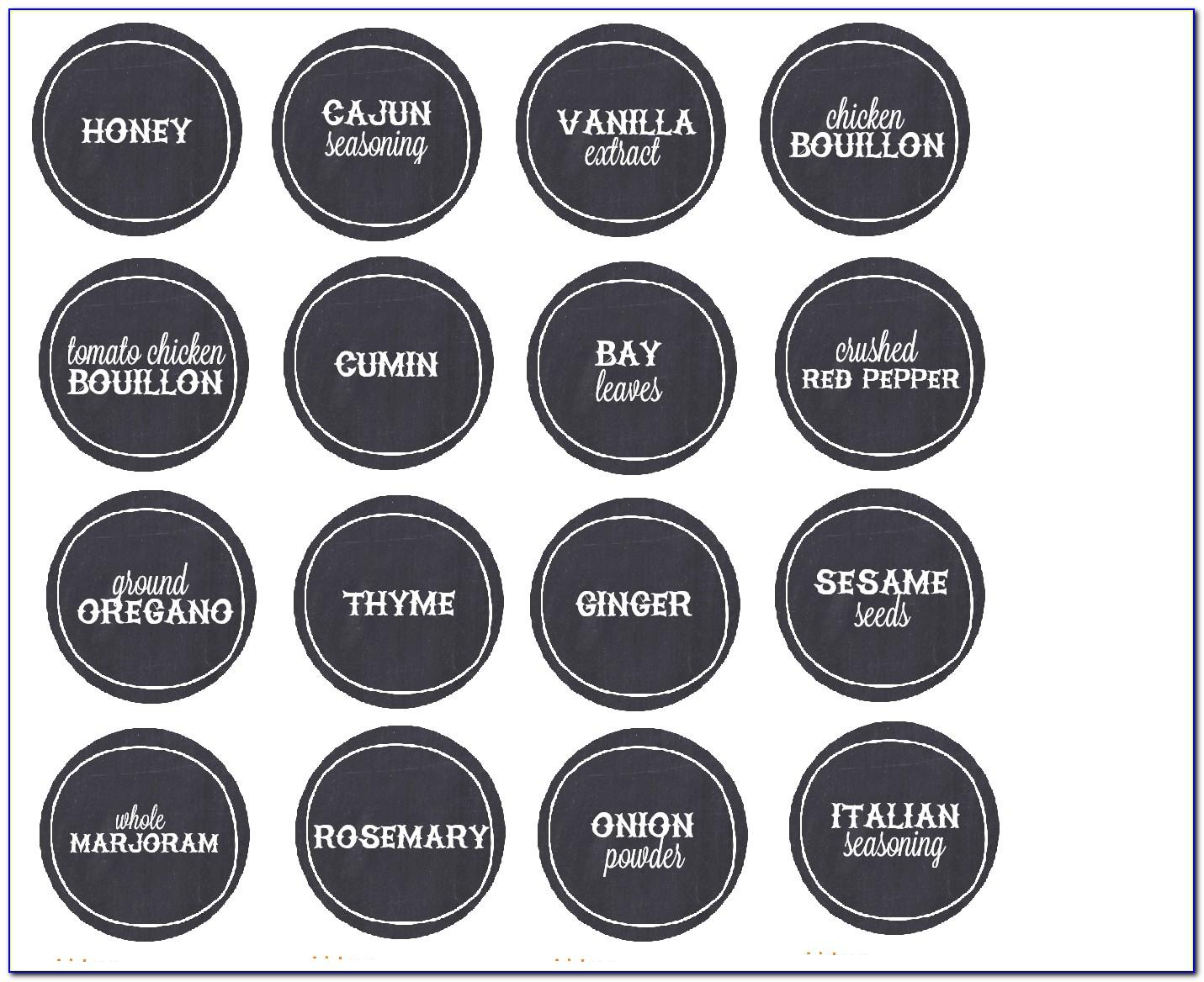1.25 Circle Label Template Free