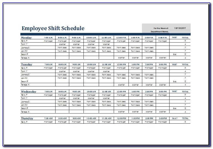 12 Hour Rotating Shift Schedules Examples