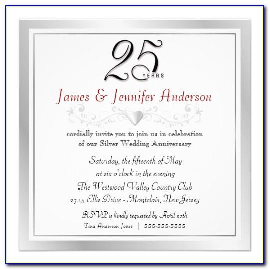25th Anniversary Invitation Template