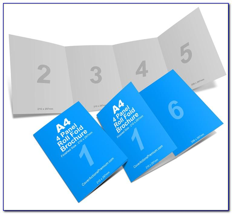 5 Panel Roll Fold Brochure Template