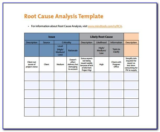 5 Whys Root Cause Analysis Excel Template