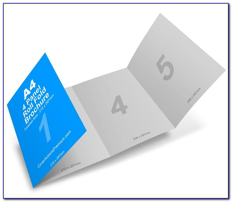 6 Panel Roll Fold Brochure Template