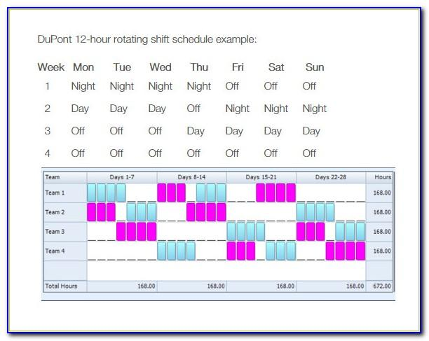 8 Hour Rotating Shift Schedules Examples Excel
