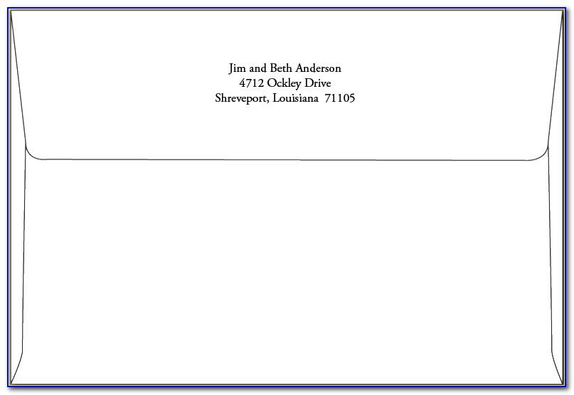 A6 Envelope Return Address Template