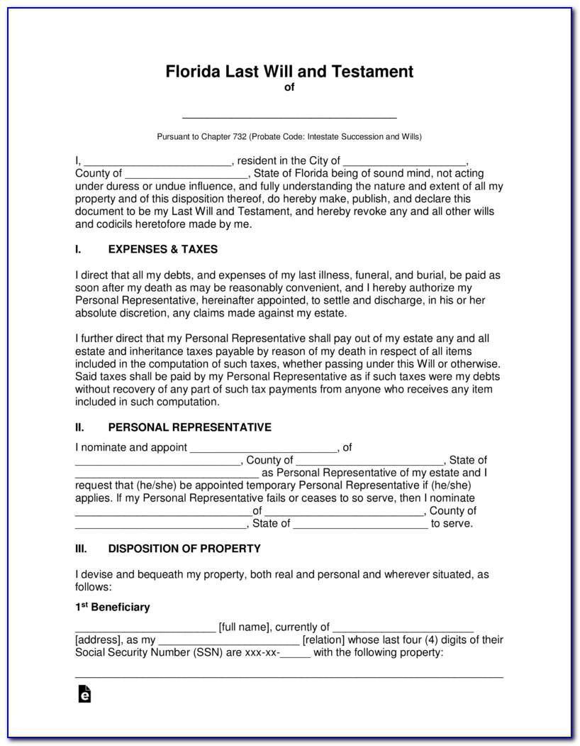 Ample Last Will And Testament Template Philippines
