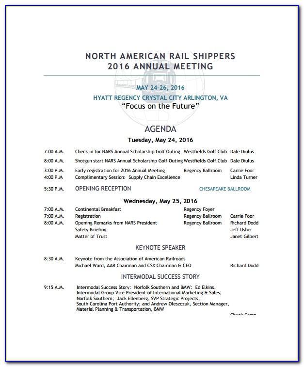 Annual Sales Meeting Agenda Examples