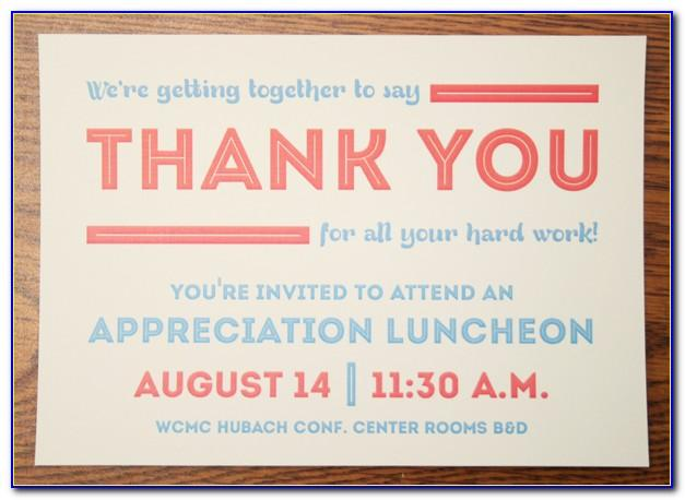 Appreciation Dinner Invitation Free Template