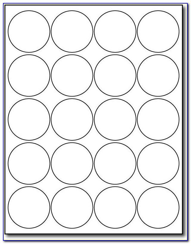Avery Round Label Template 20 Per Sheet