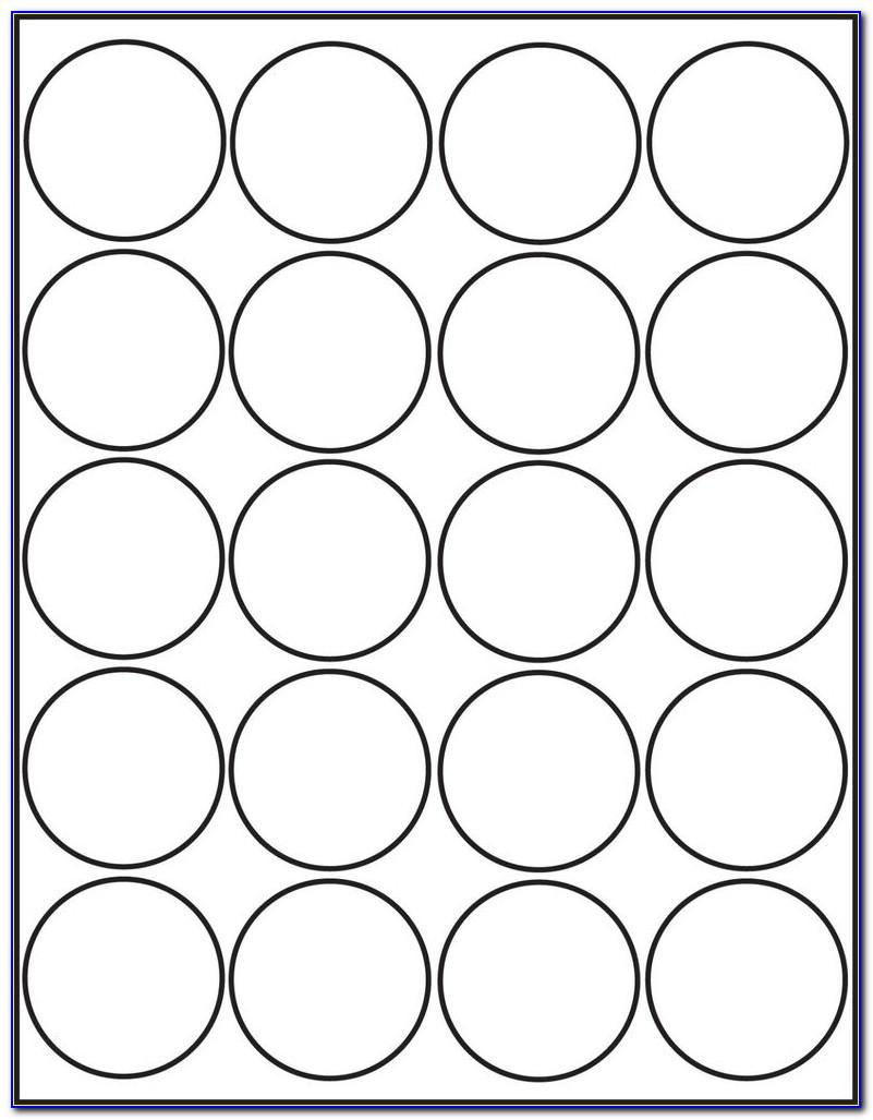 Avery Round Sticker Labels Template