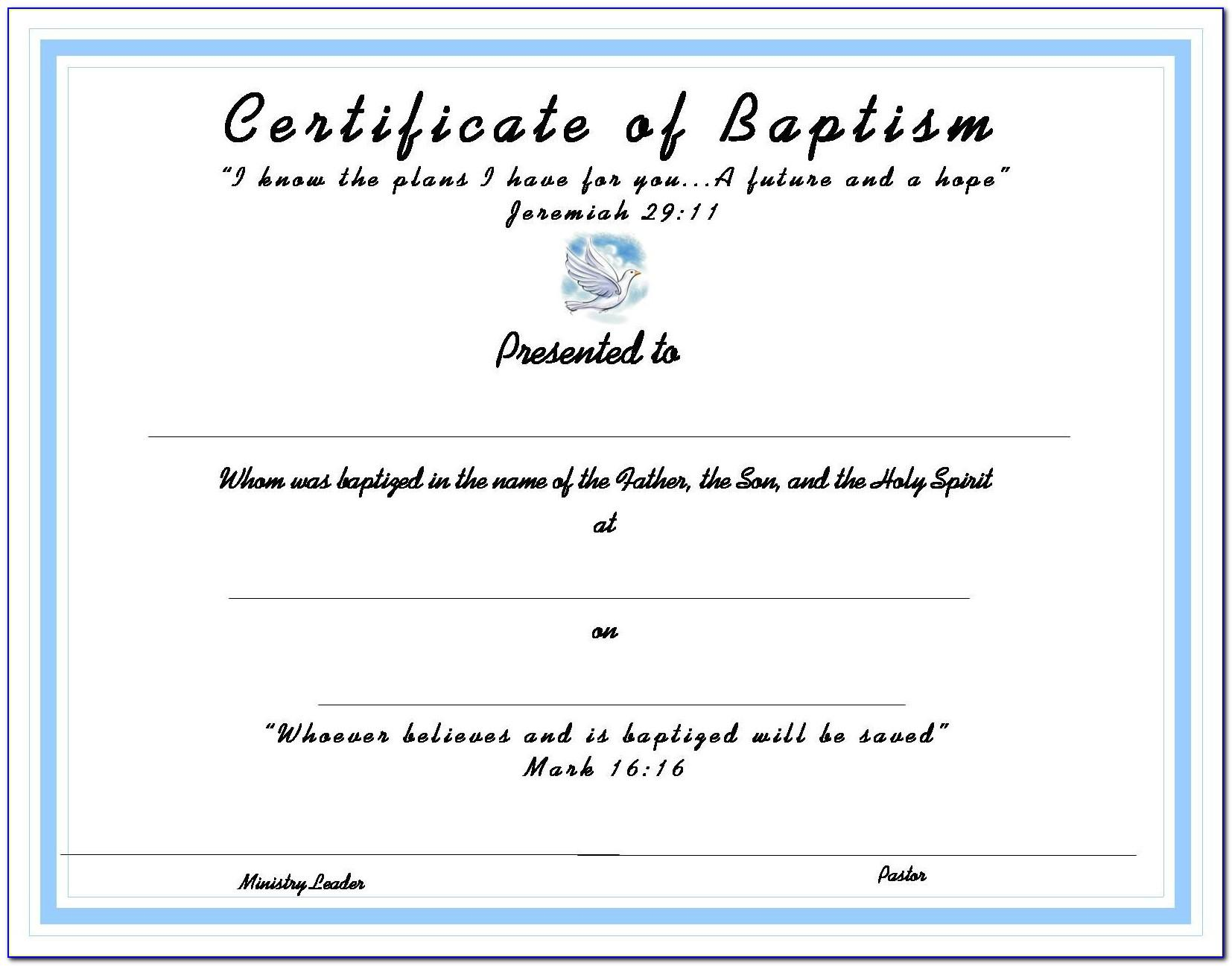 Bible Study Certificate Templates