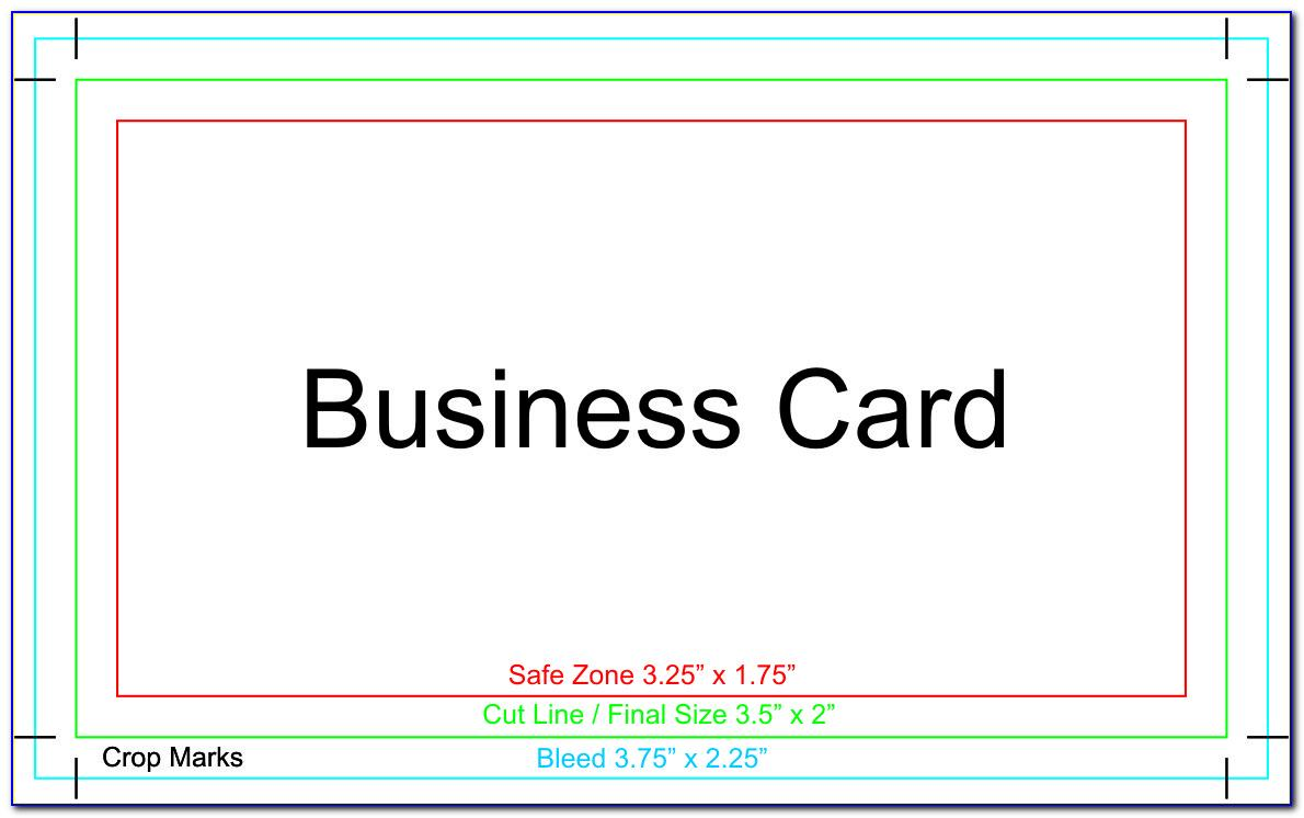 Business Card Template For Printer