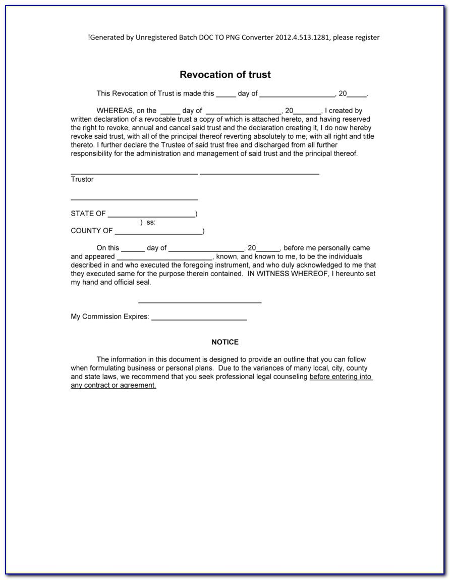 California Joint Revocable Living Trust Form