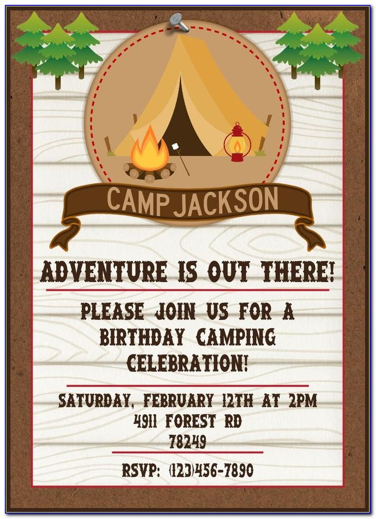 Camping Themed Invitation Template