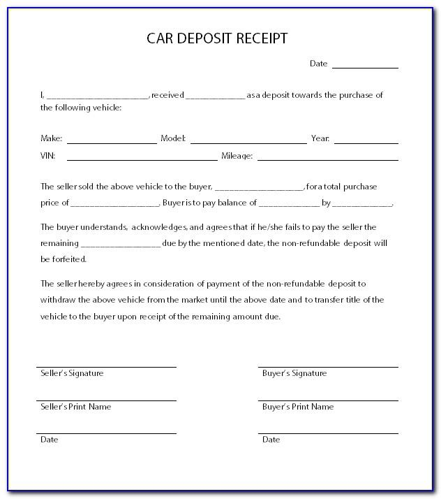 Car Sale Contract Template Victoria