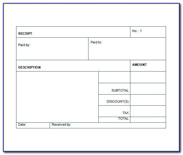 Car Sales Receipt Template Uk