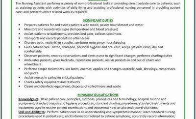 Certified Nursing Assistant Resume Samples