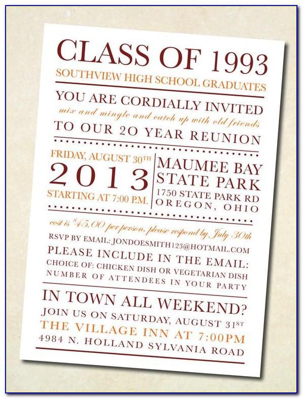 Class Reunion Flyer Template Free