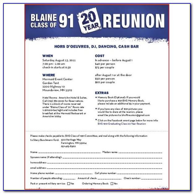 Class Reunion Invitation Template Free
