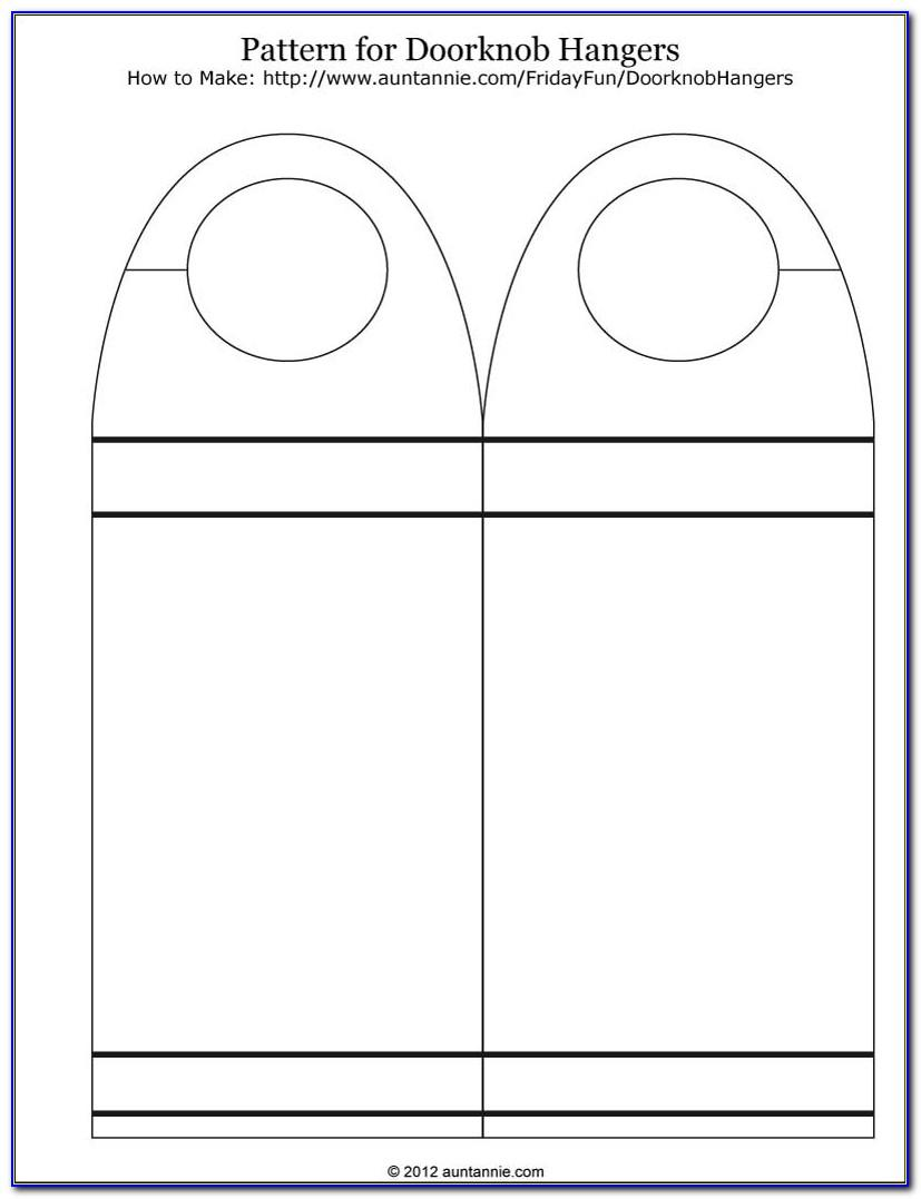 Door Handle Hanger Template