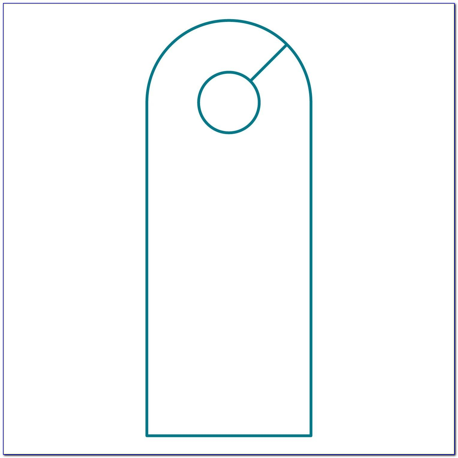 Door Knob Hanger Template Free