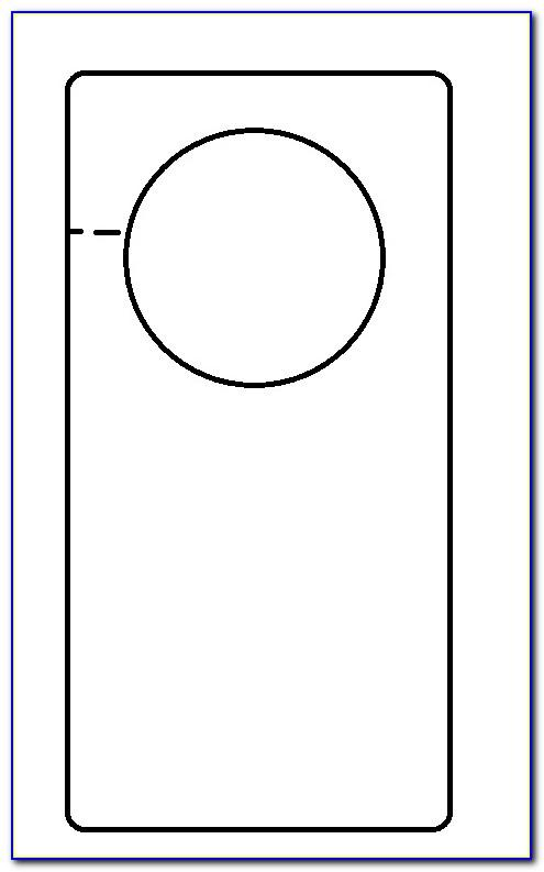 Door Knob Hanger Template Microsoft Publisher