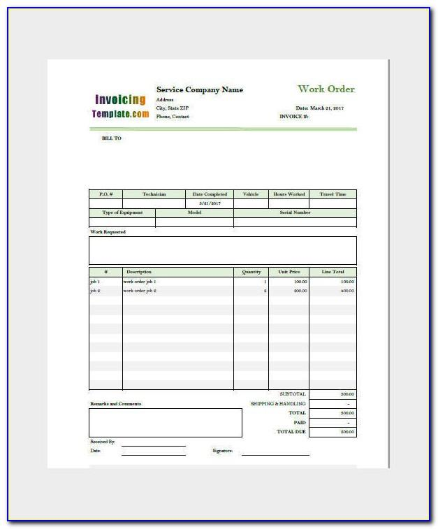 Downloadable Invoice Template For Word
