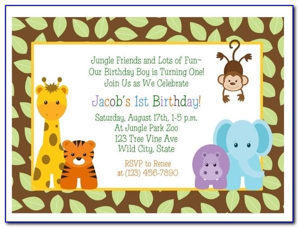 Editable Safari Birthday Invitations Templates Free
