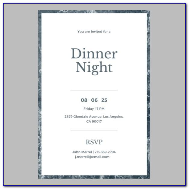 Employee Appreciation Dinner Invitation Template