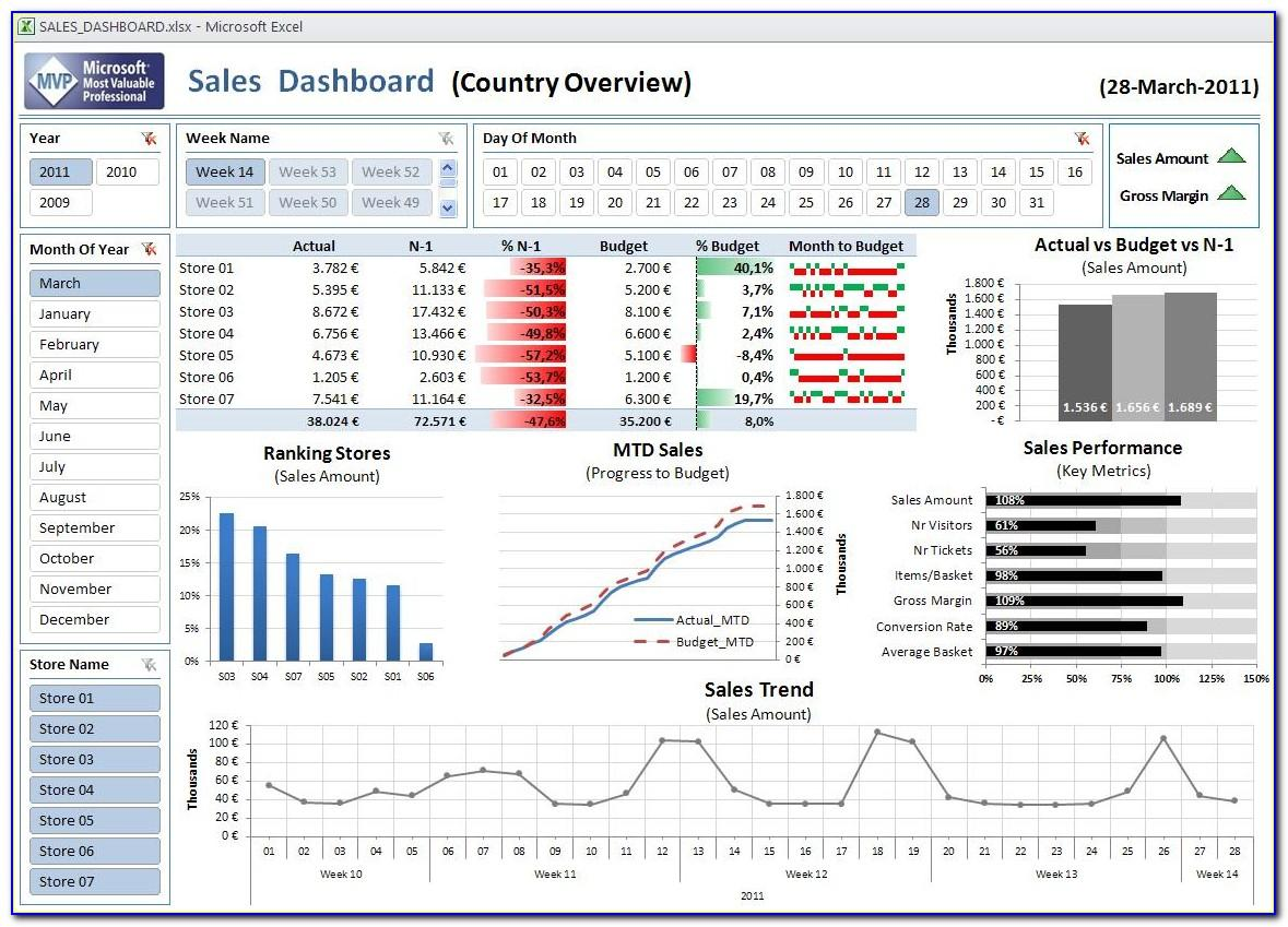 Excel 2010 Dashboard Examples