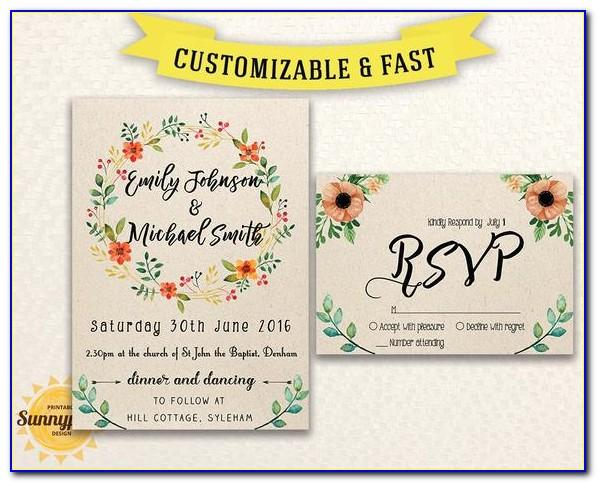 Free Downloadable Rustic Wedding Invitation Templates