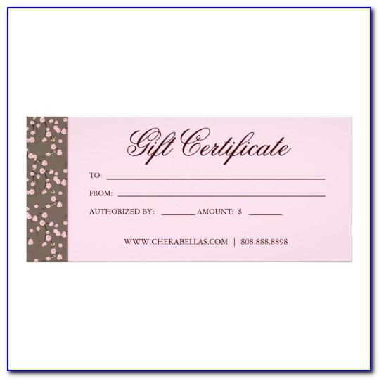 Free Hair Salon Gift Certificate Template Word