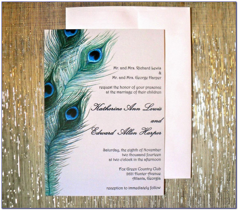 Free Peacock Wedding Invitation Templates