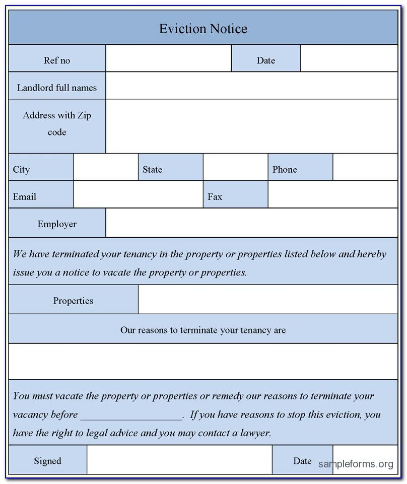 Free Printable Eviction Notice Template Maine