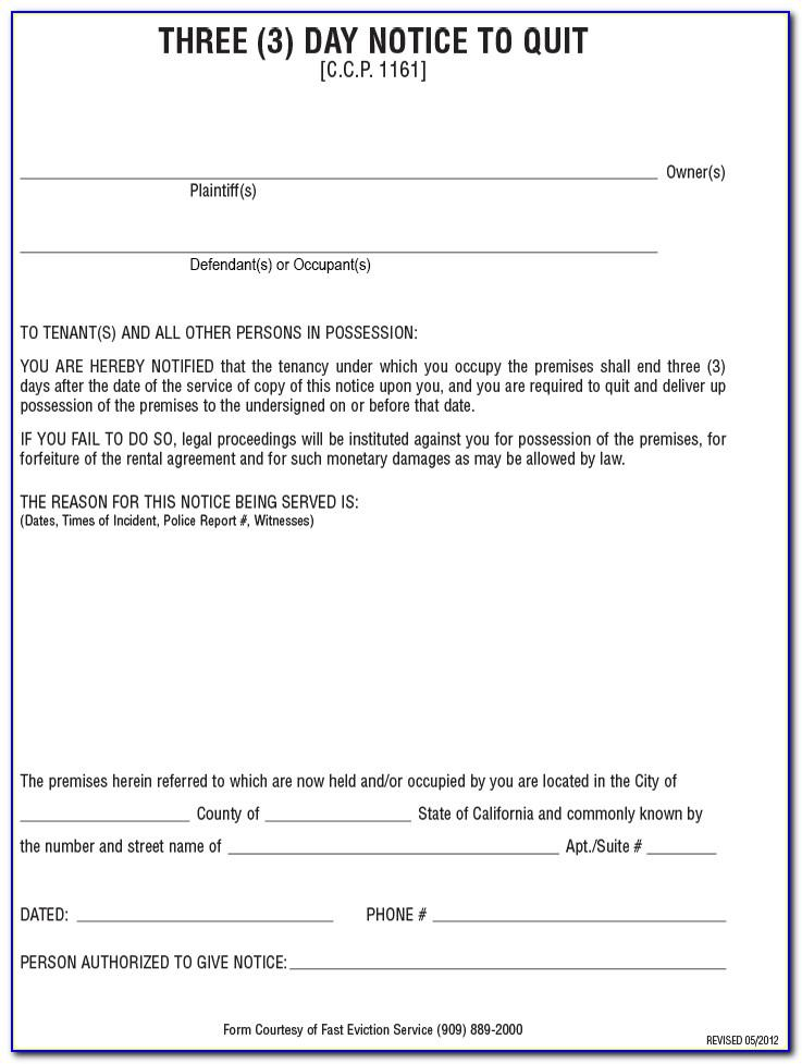 Free Printable Eviction Notice Template Uk