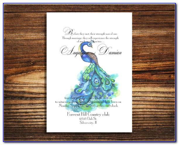 Free Printable Peacock Wedding Invitation Templates