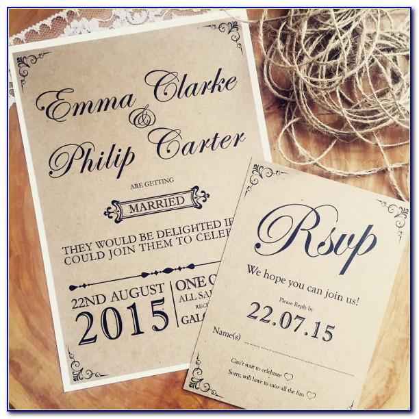 Free Printable Rustic Wedding Invitation Templates Download