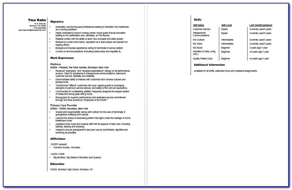 Free Resume Template With Picture Option