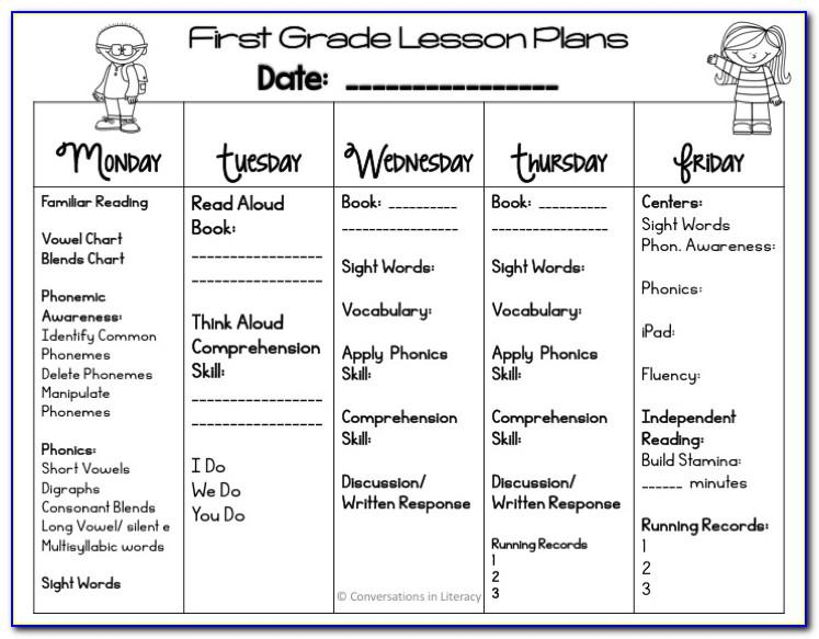 Free Rti Lesson Plan Template
