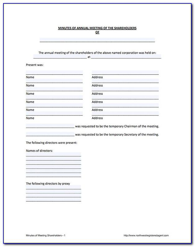 Free S Corp Operating Agreement Template