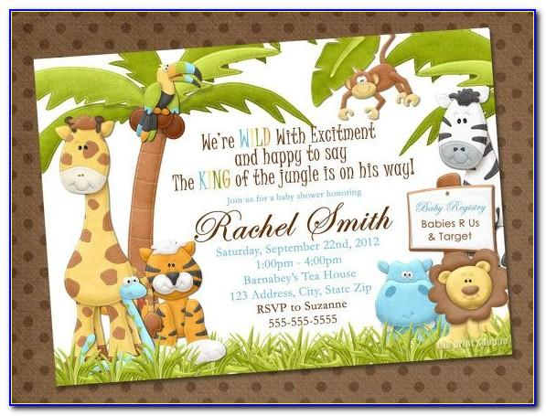 Free Safari Party Invitation Templates