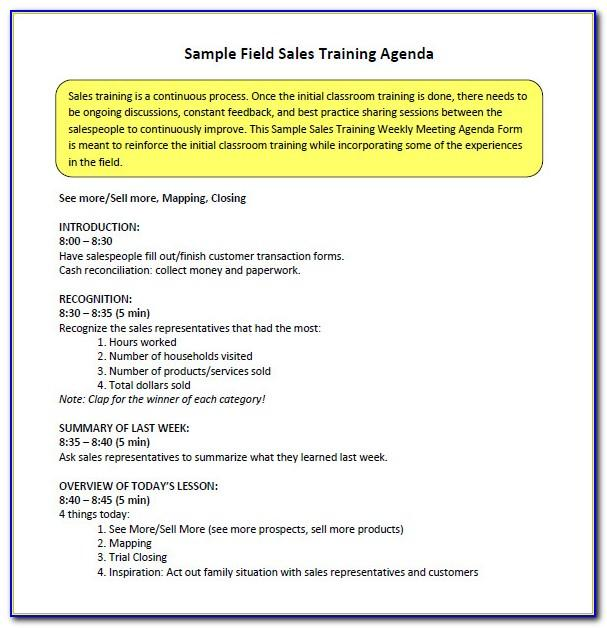 Free Sales Training Plan Template